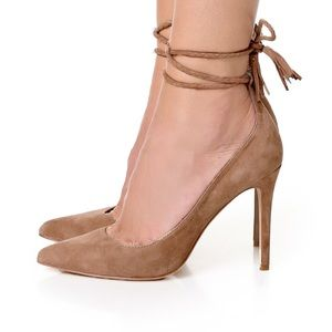 Joie Angelina suede pointed ankle wrap heel